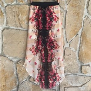 Wet Seal Floral High low Skirt
